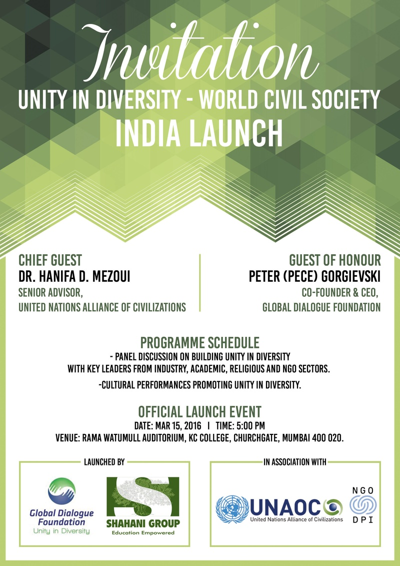 unity in diversity in india in dialogue Unity in diversity – world civil society mumbai, india 15-16 march 2016 planetary citizens assembly india launch  building intercultural, inter-ethnic, inter-religious, inclusive and sustainable society.